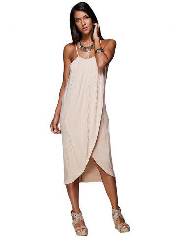 Cheap Spaghetti Strap Draped Summer Slip Dress