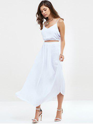 Discount Pleated Two Piece Maxi Dress Set