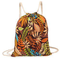 Men Women Beach Backpack 3D Printing Retro Rucksack Travel Canvas Bag