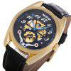 Winner A071 Men Auto Mechanical Watch Luminous Hollow-out Dial Wristwatch -