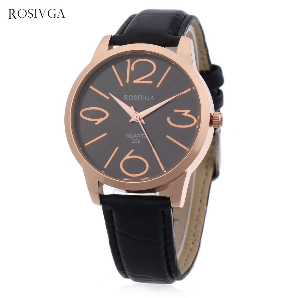 Outfit Rosivga 259 Women Quartz Watch Leather Band Water Resistance Wristwatch