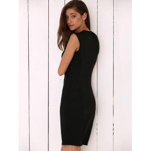Round Collar Cut Out Bodycon Dress -