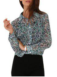 Allover Print Button Down Blouse