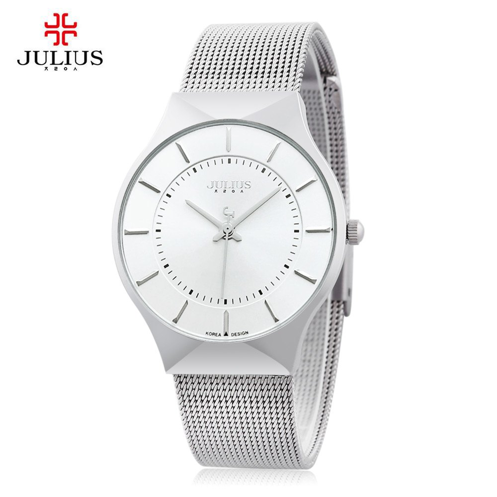 Outfits Julius JA - 577 Male Quartz Wrist Watch Ultrathin Stainless Steel Mesh Band