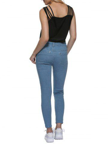 Shops Mid Waisted Skinny Jeans - M LIGHT BLUE Mobile