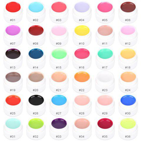 Outfit 36 Pure Colors Pots Bling Cover UV Gel Nail Art Tips Extension Manicure for Girls - AS THE PICTURE  Mobile