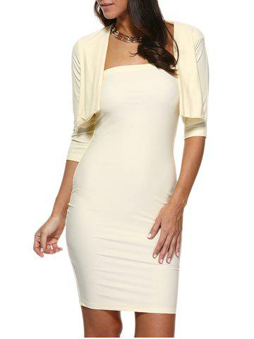 Outfits Strapless Bodycon Tube Dress and Jacket Twinset