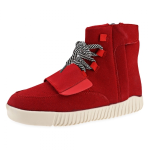 Fashionable Solid Color Magic Tape Design Dunk High Sneakers for Men -
