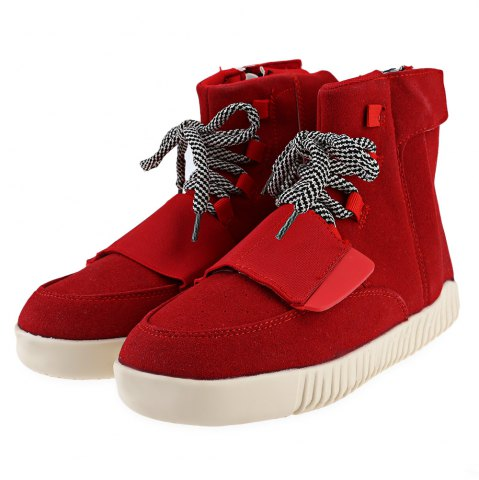 Chic Fashionable Solid Color Magic Tape Design Dunk High Sneakers for Men