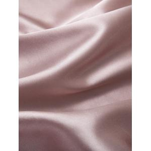 Longline Belted Satin Duster Coat - PALE PINKISH GREY L