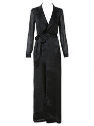 Longline Belted Satin Duster Coat