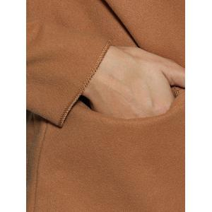 Trendy Hooded Front Pocket Pure Color Women Coat -