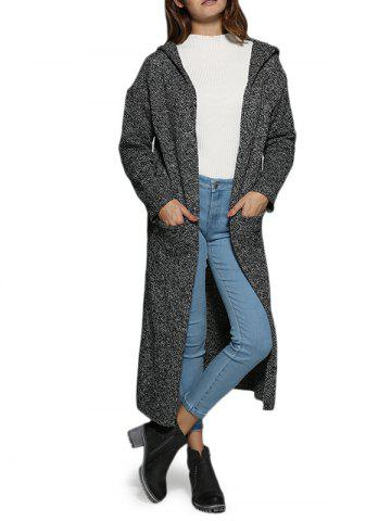 Cheap Street Style Hooded Pocket Women Long Coat GRAY ONE SIZE(FIT SIZE XS TO M)