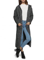 Street Style Hooded Pocket Women Long Coat - GRAY ONE SIZE(FIT SIZE XS TO M)