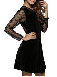 Long Sleeve Mini Sheer Dress