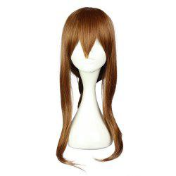 Women Long Natural Wavy Brown Maroon Wigs with Bangs Braid Cosplay for Collection Electric Modeling -
