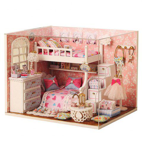 CUTEROOM H - 006 DIY Wooden House Furniture Handcraft Kit with Cover LED Light - Dream Seeker - Colormix