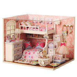 CUTEROOM H - 006 DIY Wooden House Furniture Handcraft Kit with Cover LED Light - Dream Seeker -
