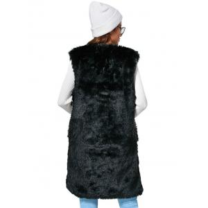 Chic Collarless Chunky Faux Fur Women Waistcoat -