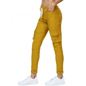 Mid Waist Side Pocket Big and Tall Cargo Jogger Pants -