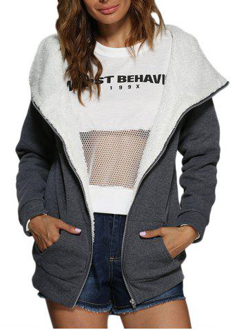 Sale Casual Hooded Zipper Chunky Women Coat
