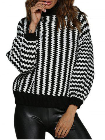 Outfits Trendy Turtleneck Ripple Loose Women Sweater