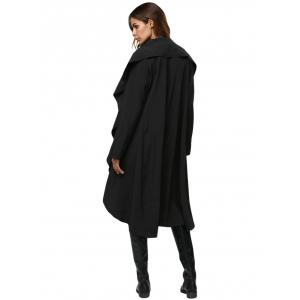 Simple Style Turn Down Collar Loose-Fitting Women Trench Coat -