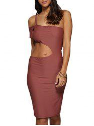 One Strap Cut Out Bodycon Party Dress -