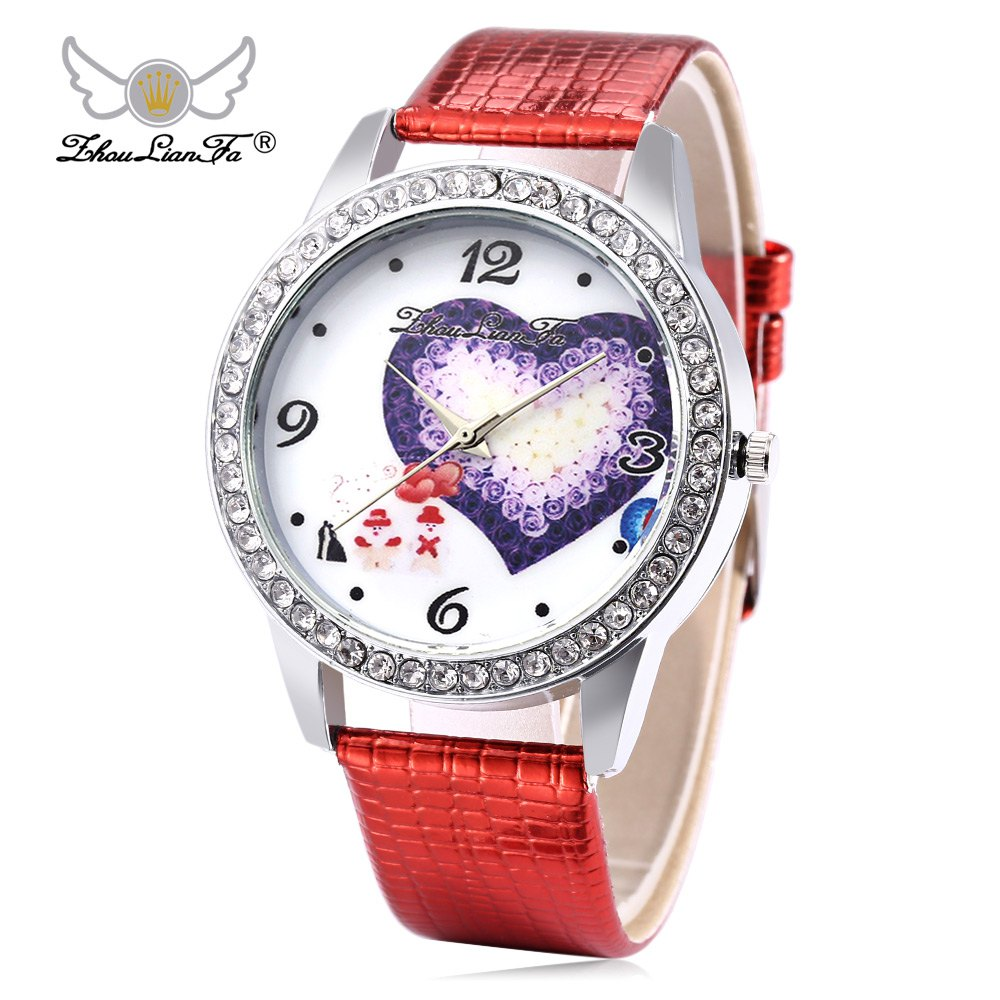 Lover's Watches Zhoulianfa Fashion Mesh Strap Male Female Watch Flower Pattern Quartz Wristwatch Comfortable And Easy To Wear