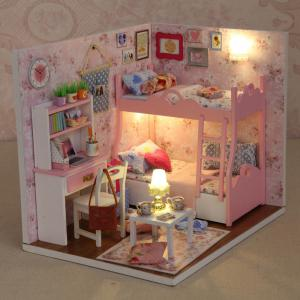 CUTEROOM H - 012 - A DIY Wooden Doll House Furniture Handcraft Miniature Box Kit - Blossom Age - Multicolore