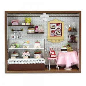 CUTEROOM C - 004 DIY Wooden Doll House Furniture Handcraft Miniature Box Kit - Sweet Cake - COLORMIX