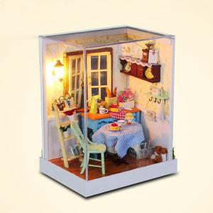 CUTEROOM F - 002 DIY Wooden Doll House Furniture Handcraft Miniature Box Kit - Pastoral Life - COLORMIX