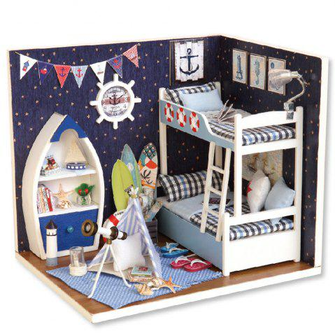 CUTEROOM H - 011 - A DIY Wooden Doll House Furniture Handcraft Miniature Box Kit - Gazing Skywards - Colormix