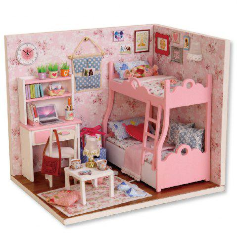 CUTEROOM H - 012 - A DIY Wooden Doll House Furniture Handcraft Miniature Box Kit - Blossom Age Multicolore