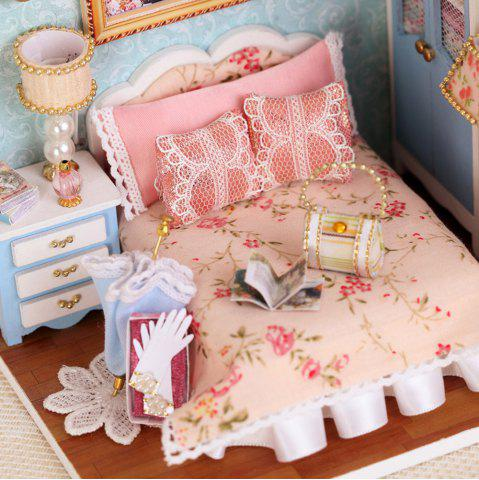 Outfit CUTEROOM H - 010 DIY Wooden Doll House Furniture Handcraft Miniature Box Kit - Happy Moment COLORMIX
