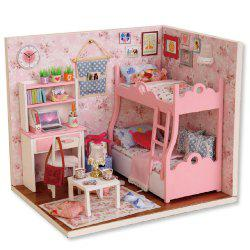 CUTEROOM H - 012 - A DIY Wooden Doll House Furniture Handcraft Miniature Box Kit - Blossom Age - COLORMIX