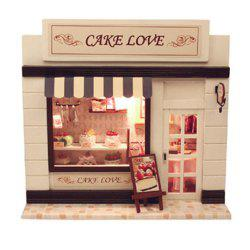 CUTEROOM C - 004 DIY Wooden Doll House Furniture Handcraft Miniature Box Kit - Sweet Cake