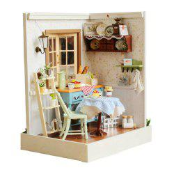 CUTEROOM F - 002 DIY Wooden Doll House Furniture Handcraft Miniature Box Kit - Pastoral Life