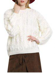 Chic Round Collar Fringed Pure Color Women Pullover