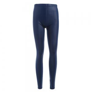 Brief Mid Waist Faux Leather Women Pants - Deep Blue - One Size(fit Size Xs To M)