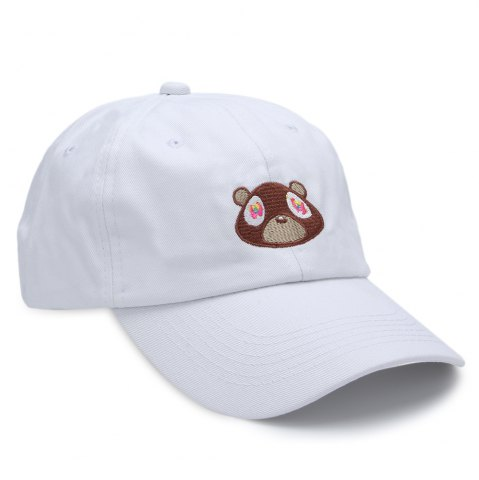 Best Sweet Pure Color Baseball Hat for Unisex WHITE