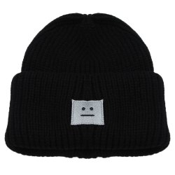 Casual Smile Face Decoration Warm Girls Knitted Hat