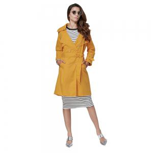 Chic Turn Down Collar Button Design Women Trench Coat -