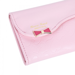 Guapabien Bowknot Cute Love Girls Long Wallet Purse -