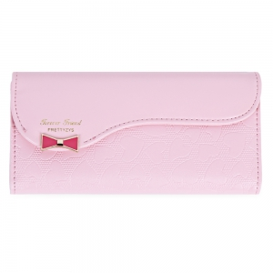 Guapabien Bowknot Cute Love Girls Long Wallet Purse
