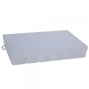 Detachable 36 Compartments Multifunctional Plastic Storage Box - Transparent