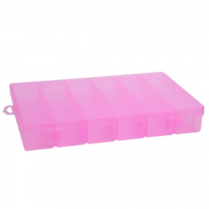 Detachable 36 Compartments Multifunctional Plastic Storage Box - Pink