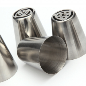7pcs DIY Stainless Steel Buttercream Icing Piping Nozzles Baking Tools - SILVER