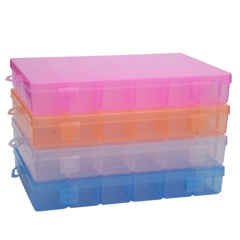 Buy Detachable 36 Compartments Multifunctional Plastic Storage Box - BLUE  Mobile