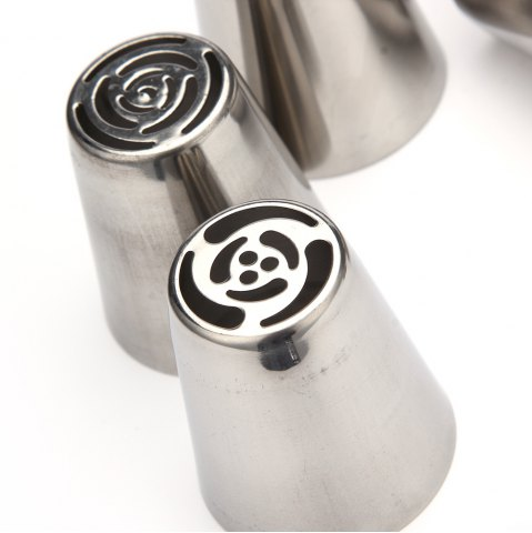 Outfits 7pcs DIY Stainless Steel Buttercream Icing Piping Nozzles Baking Tools - SILVER  Mobile